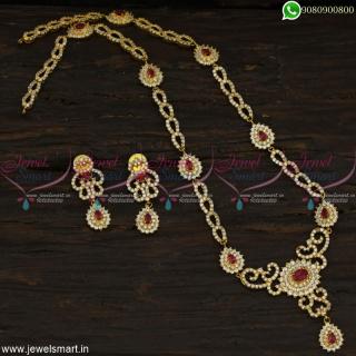 New Medium CZ Haram designs Gold Model Designer Jewellery Collections OnlineNL22826