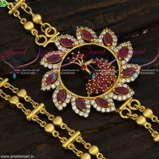 One Gram Gold Designer Mugappu Chains South Indian Jewelry New Fashion C21679