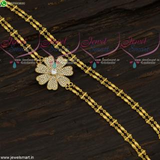 One Gram Gold Mugappu Rettai Vadam Chain Fancy Designs Imitation Online C21683