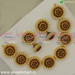 Pathakkam Necklace Set Dance Jewellery Classical Kuchipudi Bharathanatyam