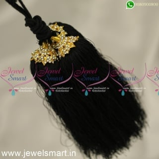 H24364 Pattu Nool Hair Kuppulu For Marriage South Indian Artificial Jewellery Online