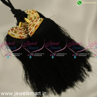 H24363 Pattu Nool Jadai Kunjalam South Indian Wedding Jewellery Online