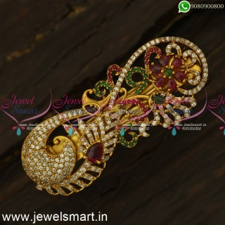 Peacock Model Classic Womens Accessories for Hair Clips Buy Online Latest Jewellery H24498