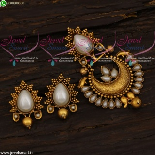 Pearl Pendant Set Antique Jewellery Copper Tone Plating Colour Online PS21645