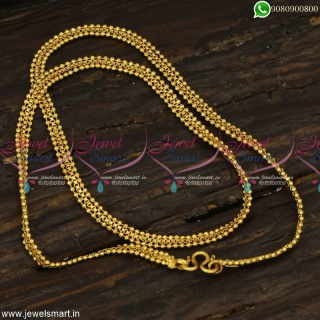Peculiar Short Chain Designs Flexible Beads Model Gold Plated Jewellery Online C23250