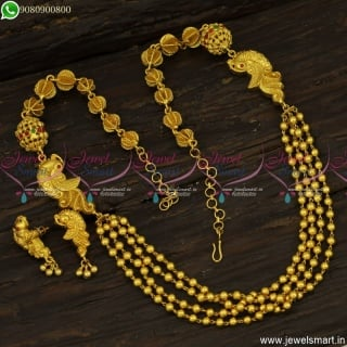 Popular Gundla Mala Designs In One Gram Gold Jewellery Incredible Artistry NL23809