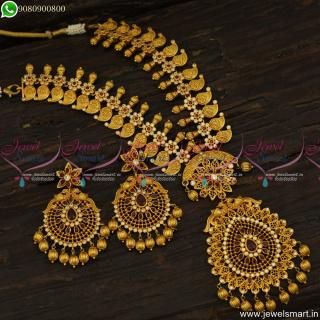 Popular Model Bridal Necklace Set Matte Look Premium Jewellery DesignsNL23697