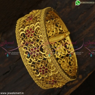 Premium finish Watch Bracelet Designs Antique Gold Plated Jewellery Designs Online
