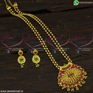 Pusalu Necklace Gold Plated Daily Wear Fashion Jewellery Latest Online NL22565