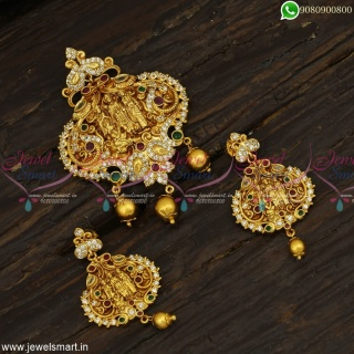 Ram Darbar Pendant Sets Indian Jewellery Latest Nagas Gold Antique Collections Online PS23059