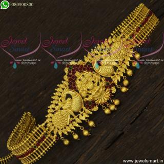 Ravishing Temple Jewellery Oddiyanam One Gram Gold Designs Online H22134