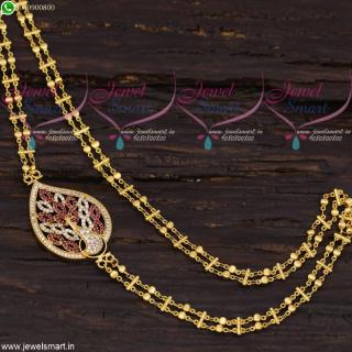 Rettai Vadam Mugappu Chain South Indian Fashion Jewellery Gold Plated C21674