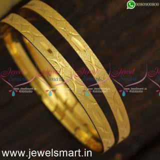 Reverse Comma Print Model Gold Kangan Design Daily Use New Artificial Jewellery B24016