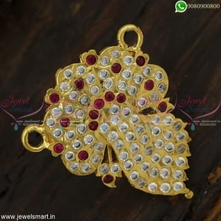 Ribbon Knot Model Gold Pendant Design South Indian Handmade Jewellery OnlineP23009