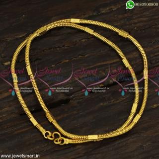 Round Kodi Capsule Artificial Gold Chains Latest Copper Metal Jewellery C23257