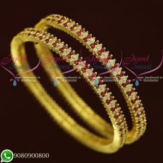 CZ Jewellery Bangles Latest Gold Design Artificial Collections Online