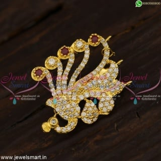 Ruby White Trendy Saree Brooches Fancy Design Shop Online New Fashion Jewellery SP21431