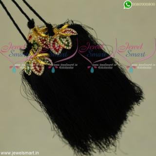 Silk Thread Artificial Jewellery Jada Kunjalam Latest Hair Kuppulu OnlineJK22105