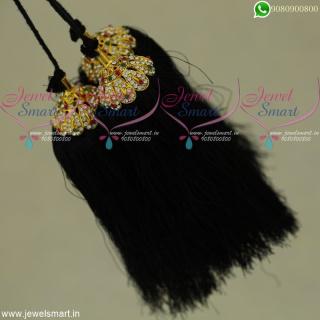 Silk Thread Bridal Jada Kunjalam Latest Hair Kuppulu OnlineJK22106
