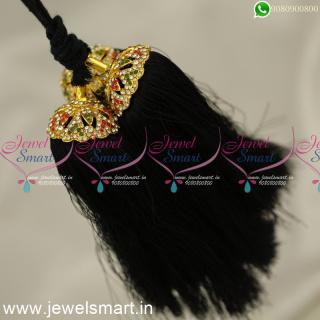 H24358 Silk Thread Jada Kunjalam for Marriage Artificial Jewelry Latest Hair Kuppulu Online