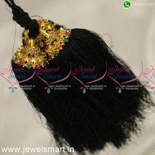 H24359 Silk Thread Jada Kunjalam for Marriage Artificial Jewelry Latest Hair Kuppulu Online