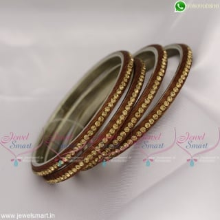 Beautiful Silk Thread Lac Bangles Matching Colour Jewellery Online Latest