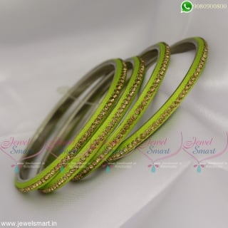 Jazzy Silk Thread With Stones Lac Bangles Latest Dress Matching Jewellery Online