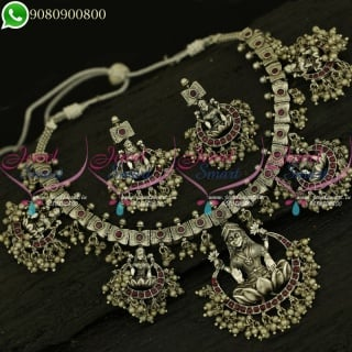 Temple Gutta Pusalu Designs South Indian Silver Plated Jewellery Collections NL21092