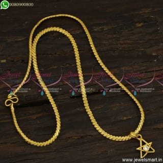 Simple Gold Plated Daily Wear Chain Pendant Designs Online CS23489