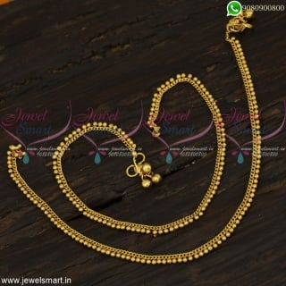 Simple Gold Anklets Design Daily Wear Artificial Payal Collections OnlineA22629
