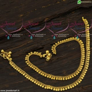 Simple Gold Covering Golusu Anklets South Indian Daily Wear jewellery