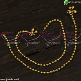 Simple Leg Chains Beads Model Golusu Latest Anklets Online