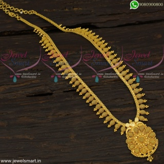 Simple Lightweight Gold Haram Designs South Indian Daily Use Jewellery NL22552