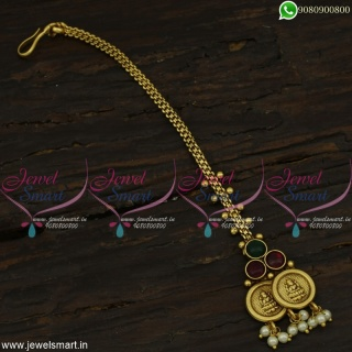 Simple Low Price Coin Nethichutti Traditional Maang Tikka Accessories For HairT22288