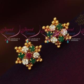 Simple Star Design Ear Studs South Indian Kal Thodu Models Online ER18308A