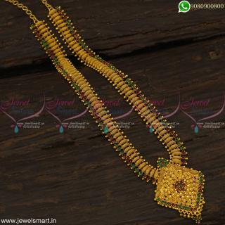 Single Line Stones Gold Haram Designs Sturdy Imitation Jewellery CollectionsNL19148