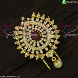 Small Accesories for Hair Jadai Alangaram For Wedding Online CZ Jewellery H21945