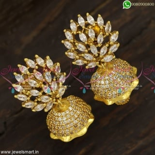 Small Beautiful Gold Design Jhumka Earrings Speciality In Screwback Jewellery