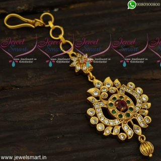 Small Beautiful Maang Tikka Suitable for Kids and Adults Antique Fashion Jewellery T23956