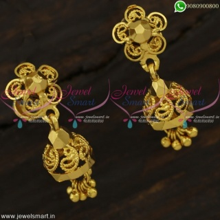 Small Cute Jhumka Earrings Gold Covering Jewellery Kids Fashion Online