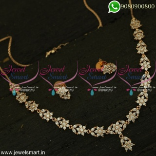 Small Necklace Set Suitable for Kids and Adults Rose Gold Silver Plated Jewellery