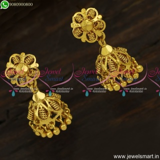 Small Size Light Weight Gold Covering Jimikki Kammal Artificial Jewellery J23897