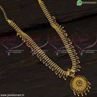 Simple South Indian Gold Haram Designs Regular Wear Imitation Jewellery Online