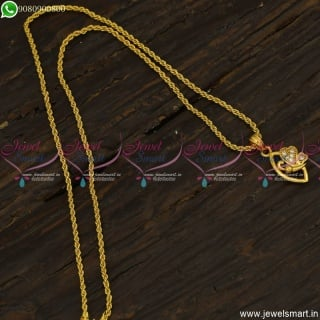 South Indian Gold Plated Chain Pendant Designs Online Fashion Jewellery CS23491