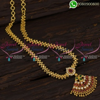 South Indian Gold Plated Chain Pendant Daily Wear Covering Jewellery Shop Online CS21252