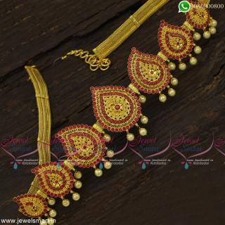 South Indian Flexible Mango Vaddanam Latest Bridal Jewellery One Gram Gold Designs