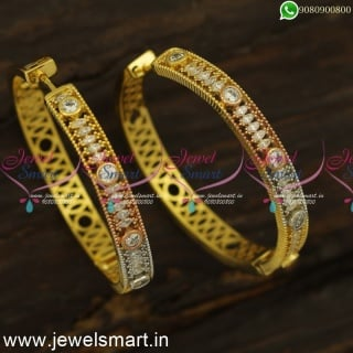 Special Glimpse White Marquise CZ Designer Bali Earrings Fashion Jewellery OnlineER24483