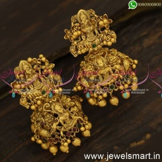 Spectacular Temple Jhumka Earrings Most Sought Jimikki Kammal Design Online J24143