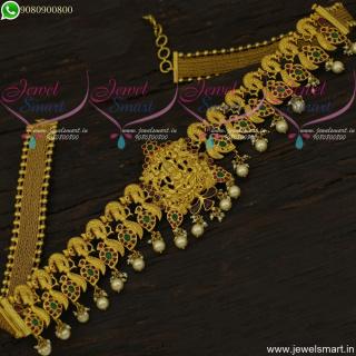 Spectacular Temple Vaddanam Latest Bridal Jewellery One Gram Hip Belt H22132
