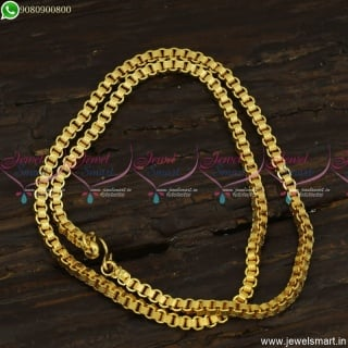 Square Link Gold Chain Designs Handmade Daily Wear Imitation Jewellery C23509